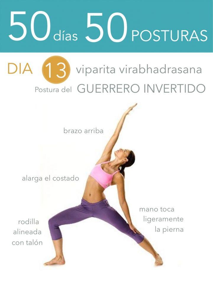 ૐ YOGA ૐ ૐ ASANAS ૐ  ૐ Viparita Virabhadrasana ૐ  50 días 50 posturas. Día 13. Postura del Guerrero Invertido