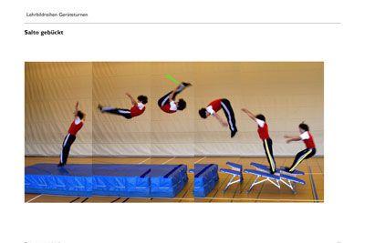 salto gebückt  turnen sportunterricht sport