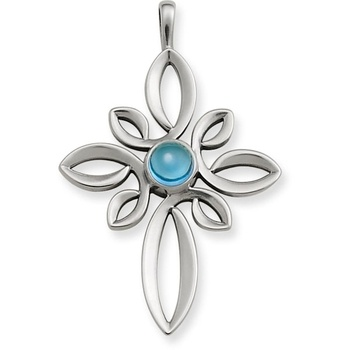 Radiant Loops Cross With Blue Topaz In Valentines 2013