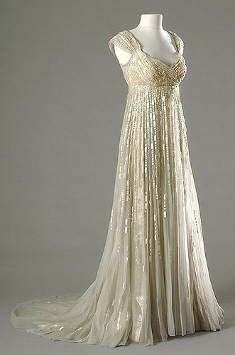 Rene Hubert, 1954 Merle Oberan wore this gorgeous champagne-colored empire gown in the 1954 movie, DESIREE