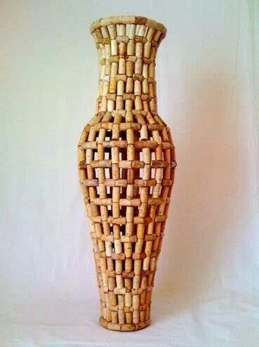 cork vase awesome wine corks pinterest