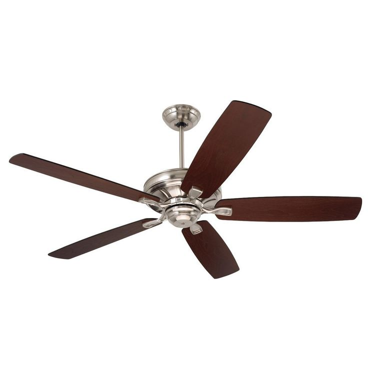 Emerson Carrera 60-Inch Brushed Steel (Silver) Transitional Ceiling Fan with Reversible Blades (Brushed Steel) (Metal)