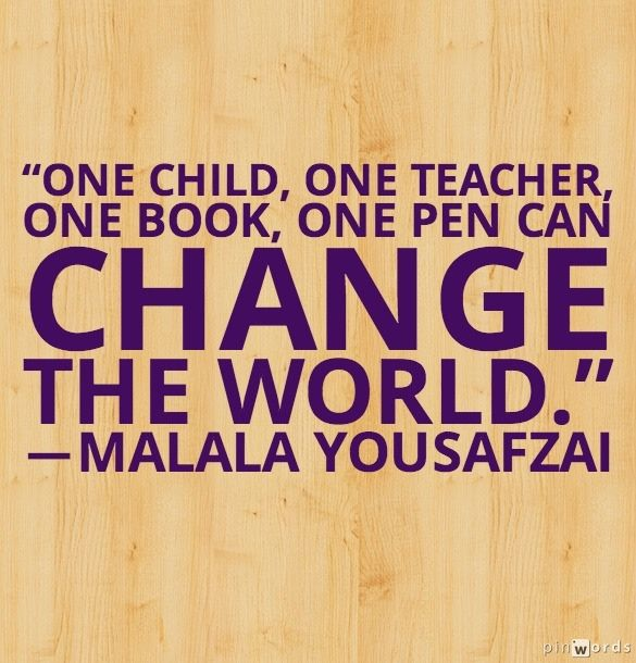 Congratulations to Malala Yousafzai, the youngest recipient of the Nobel Peace Prize.