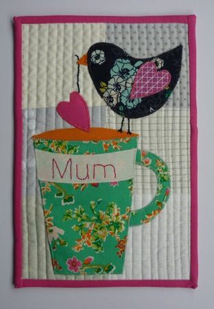 tutorial for Mothers Day Mug Rug
