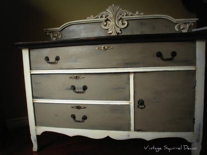 Custom Vanity Finished In Graphite, Coco U0026 Old White Chalk Paint®  Decorative Paint By