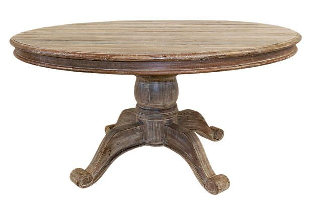 Absolutely in love with this table. Ames Round Dining Table on OneKingsLane.com