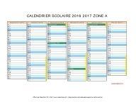 calendrier scolaire 2016 2017 zone A