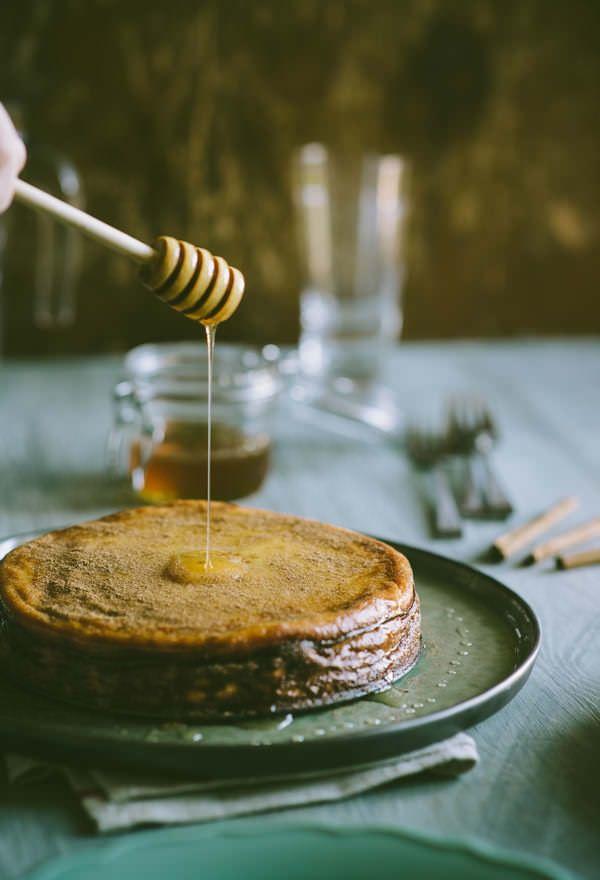 Melopita, Greece | honey cheesecake