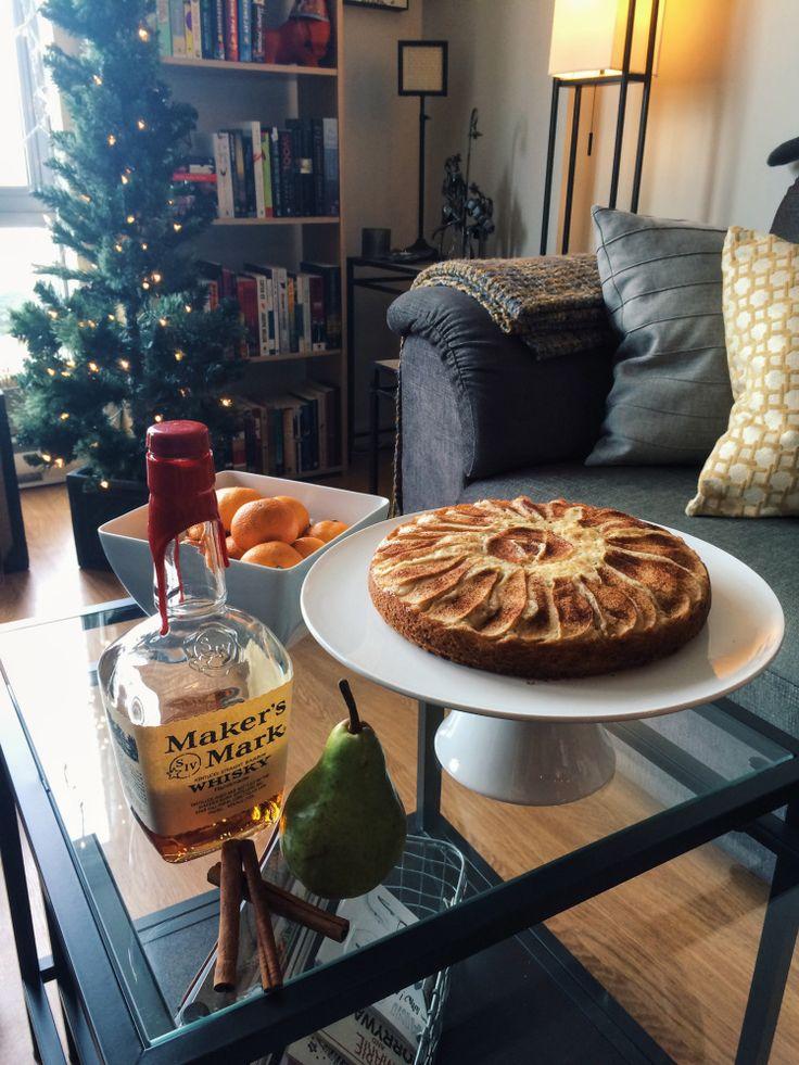 Pear Vanilla Bourbon Tea Cake