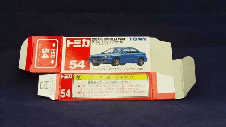 TOMICA 054H SUBARU IMPREZA GDB   1/59   ORIGINAL BOX ONLY   ST0 2000 CHINA