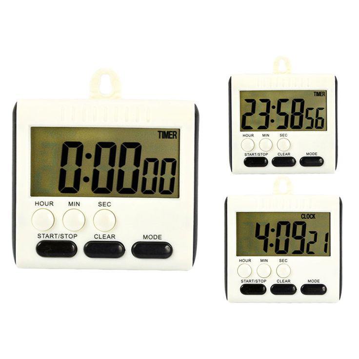 Magnetic Large LCD Digital Kitchen Timer Alarm Count Up Down Clock 24 Hours