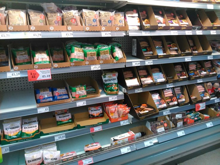 Catherine, just look at all that sausage! In Morrisons at Birmingham Great Park, Rubery.