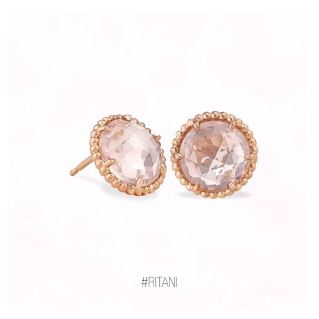 Round rose quartz halo stud earrings | Click for your chance to win a $1000 gift card from Ritani!