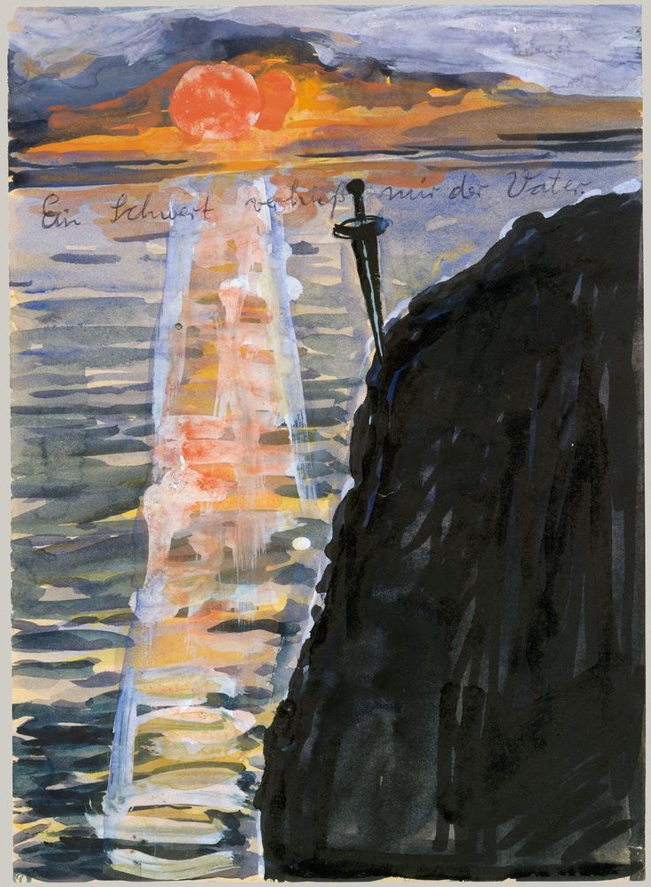 Anselm Kiefer (German, b. 1945), My Father Pledged Me a Sword, 1974-75. Watercolour, gouache, and ballpoint pen on paper, 28.6 x 20.6 cm.