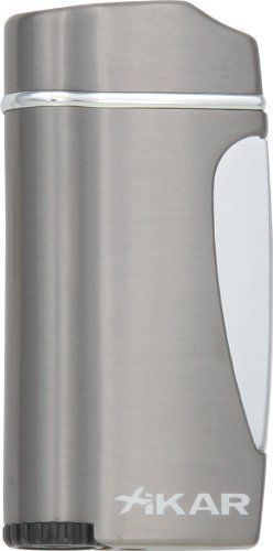 "Xikar ""Executive"" Torch Flame Lighter by Xikar. Torch Flame. Best for Cigars. Xikar Guaranteed for Life. Butane Fluid. Xikar Executive Gunmetal Grey Butane Torch."