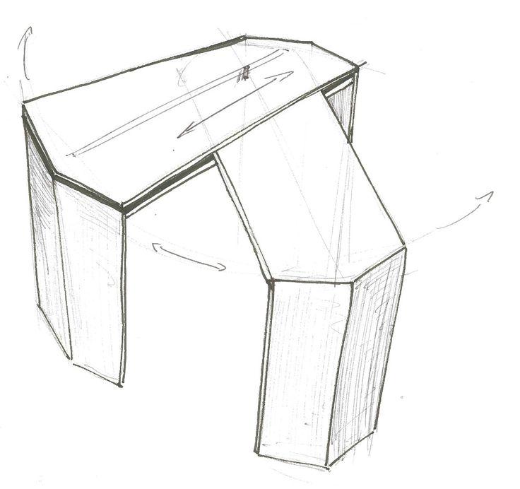 Retractable Table 17+ best ideas about bureau extensible on pinterest | extensible
