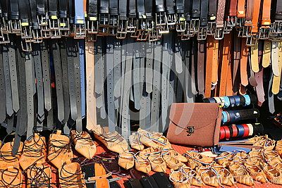 Belts and sandals of leather - bag and bracelets. Handmade leather accessories.