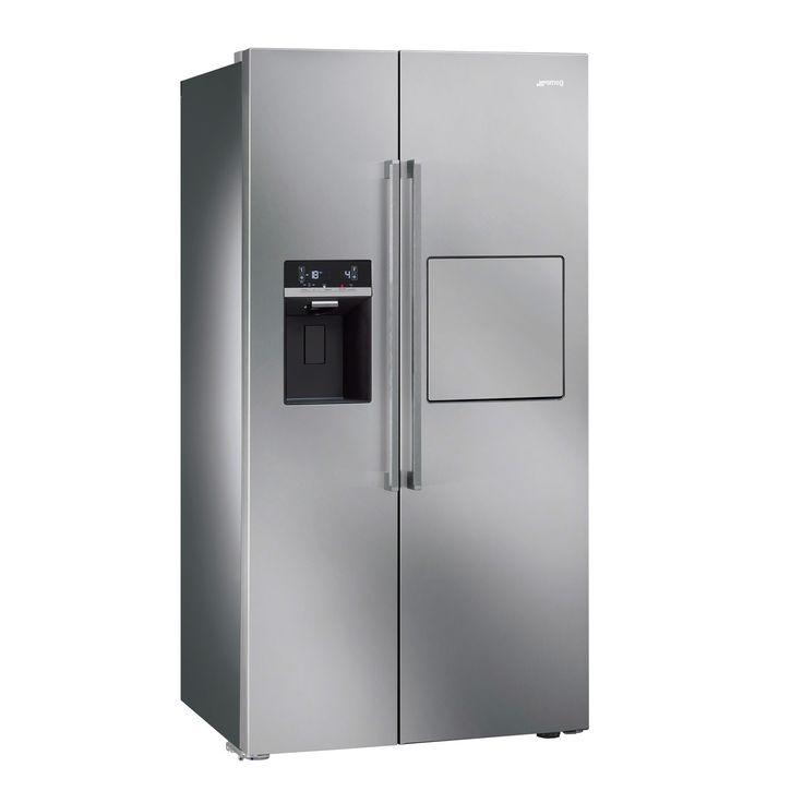 Delightful Cheap American Fridge Part - 2: Smeg SBS63XEDH Stainless Steel American Style Fridge Freezer