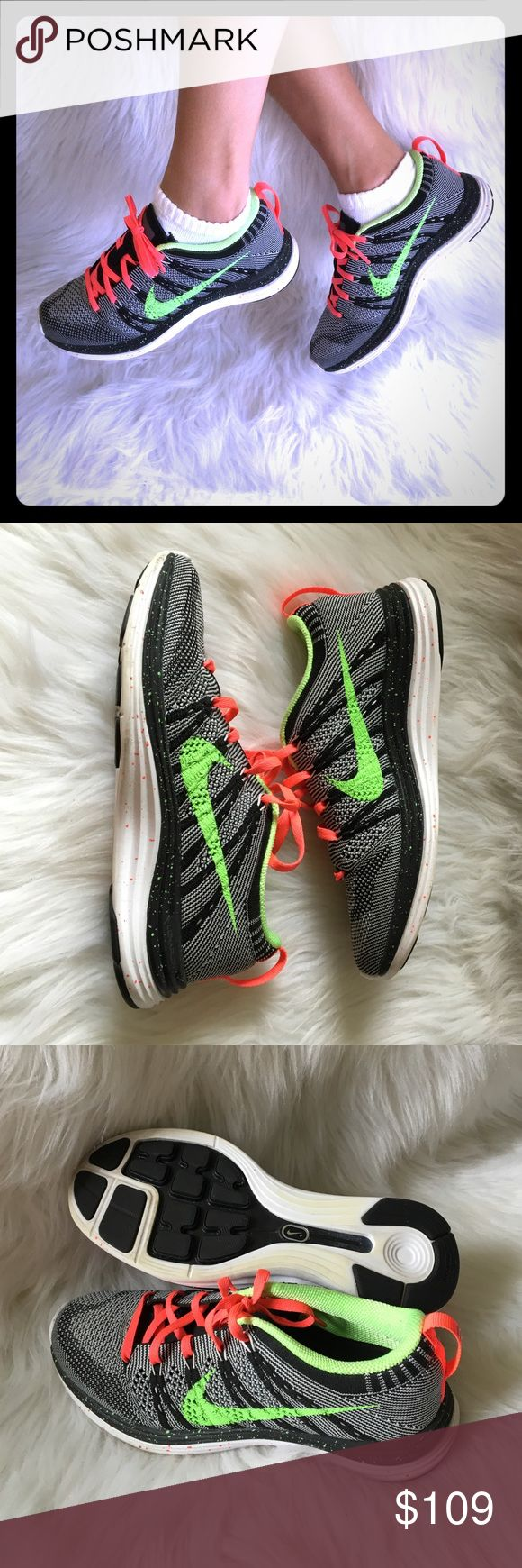 Nike+ iD Flyknit lunar 1 sneakers custom LIKE NEW ALL MY ITEMS ARE 100% AUTHENTIC. 🚫NO TRADES, NO HOLDS, NO LOW OFFERS!🚫 PLEASE USE THE OFFER BUTTON‼️ I WILL NOT RESPOND TO OFFERS  OR HOW LOW I WILL GO IN THE COMMENTS SECTION‼️ No box. Custom made on Nike. Says turner on both tongue. Not noticeable when laced up. Still in amazing condition. Worn only once LIKE NEW!!! Nike Shoes Sneakers