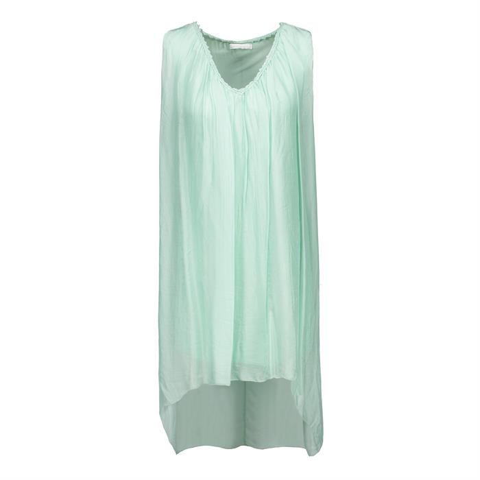 Seiden Tunika - Heart-for-Fashion  Zartes Kleid perfekt für das Outfit als Hochzeitsgast oder Trauzeugin / Brautjungfer in Pastell
