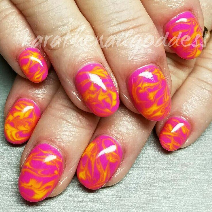 Polish swirls | Nail art, Nails, Polish