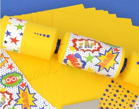 55 best make fill your own crackers images on pinterest biscuit 8 yellow superhero jewelled make fill your own crackers craft kit solutioingenieria Image collections