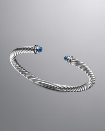 Cable Clics Bracelet With Blue Topaz And Diamonds By David Yurman At Neiman Marcus The Beautiful Life Pinterest Jewelry