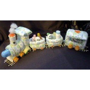 Train Diaper Cake Centerpiece / Baby Shower Gift (he he he Megan)