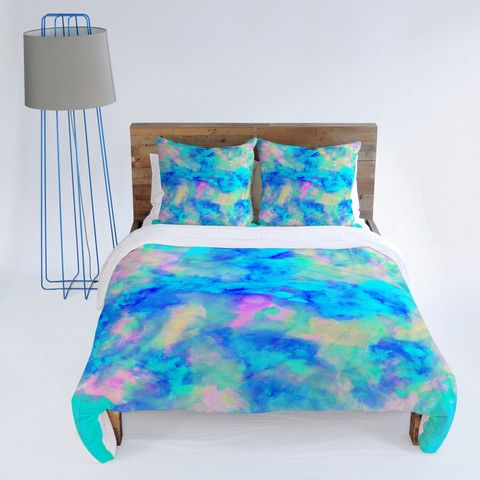 Amy Sia for  DENY DESIGNS Electrify Ice Blue Duvet Cover