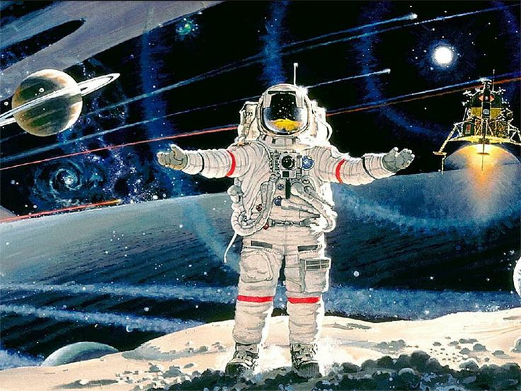 astronaut in space painting - photo #42