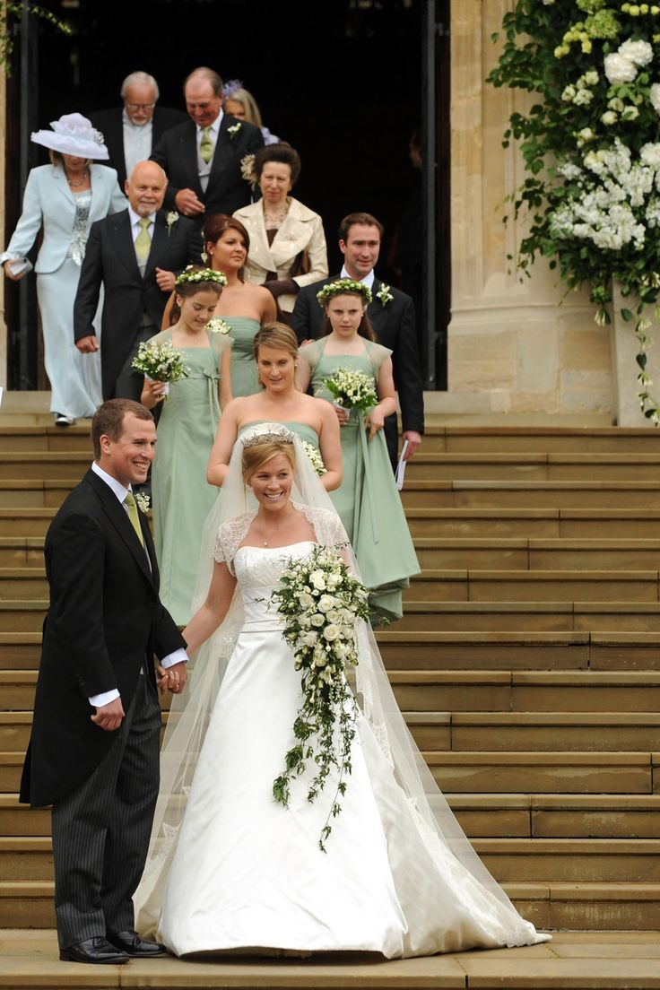 82 best marriage autumn and peter phillips images on for British royal wedding dresses