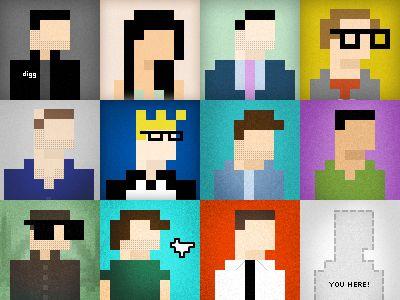 Twelve Friends in 8-Bit Form