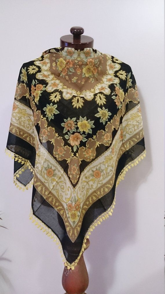 Traditional Turkish Scarf yemeni scarf Lacework by AtlasScarf