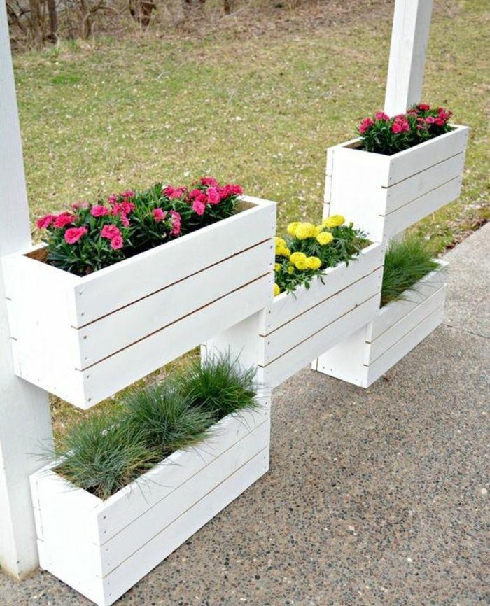 1001 tutoriels et id es pour fabriquer une jardini re en palette jardinage jardini re - Fabriquer jardiniere ...