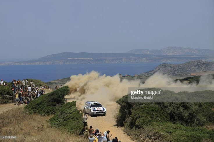 Sebastien Ogier of France and Julien Ingrassia of France compete in their Volkswagen Motorsport Polo R WRC during Day Three of the WRC Italy on June 8, 2014 in Alghero, Italy.