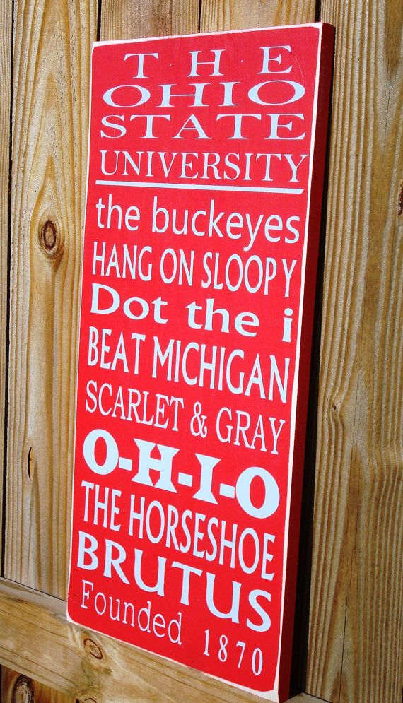 The Ohio State University Subway Art by CalowayCreations on Etsy, $49.95    WANT for our future house!