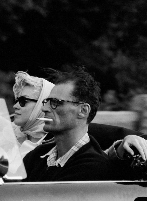 Marilyn Monroe and Arthur Miller, 1957, photo by Sam Shaw