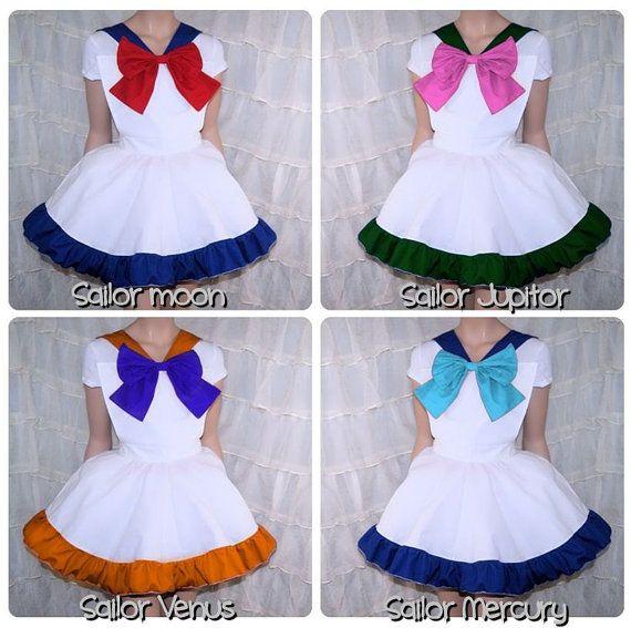 Couleur de Sailor Moon Pinafore Bow tablier Costume jupe adultes toutes tailles - MTCoffinz - a choisi