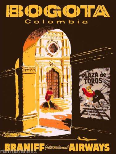 Bogota-Colombia-South-America-American-Vintage-Travel-Advertisement-Poster