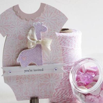 Baby Shower Invites (for A Baby Girl) {Handmade Card Ideas}