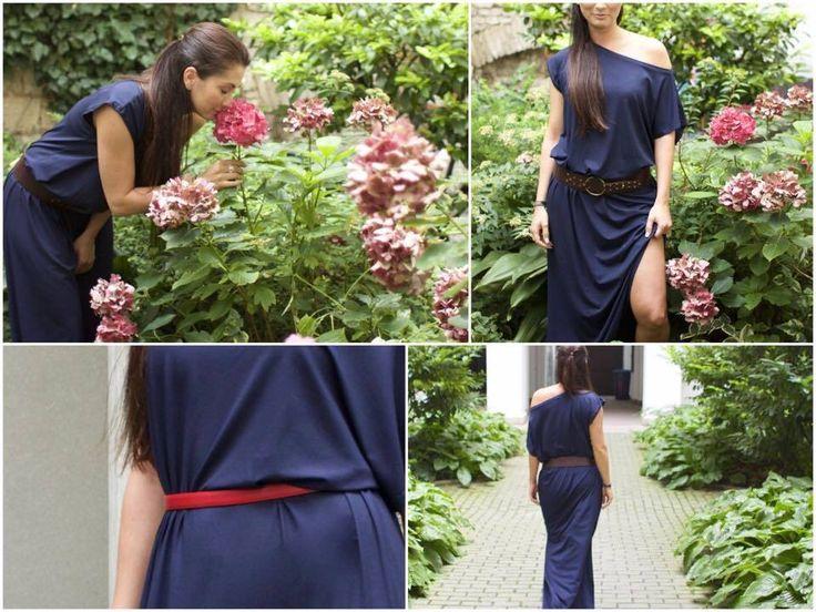 Yurkov blue maxi dress