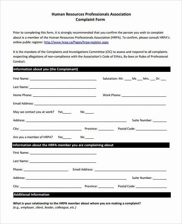 civil complaint form template lovely s 33 hr plaint forms