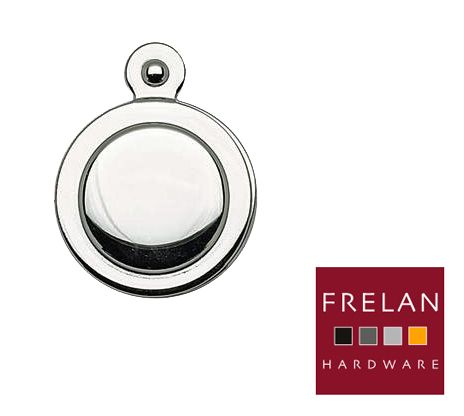 COVERED STANDARD PROFILE ESCUTCHEONS, POLISHED OR SATIN CHROME OR POLISHED BRASS - JV42 None