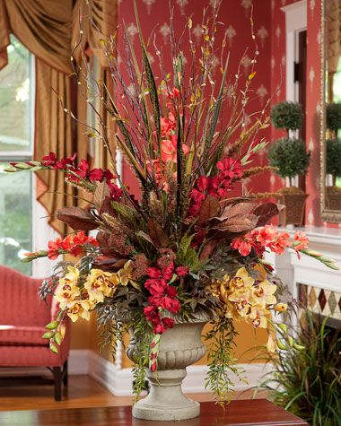 83 best images about silk arrangments on pinterest floral this gorgeous silk design of gladiolus orchids and autumn grasses is a one of silk floral arrangementsfloral centerpiecestable arrangementsitalian mightylinksfo