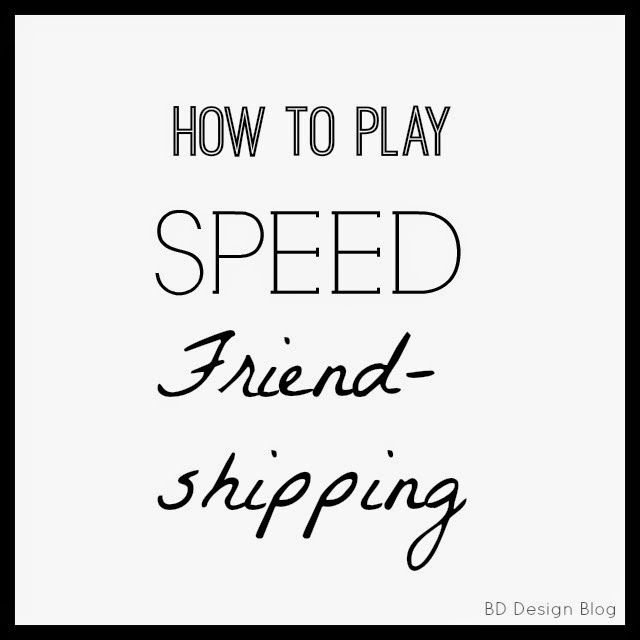 speed friend-shipping, friends, party, relief society, activities