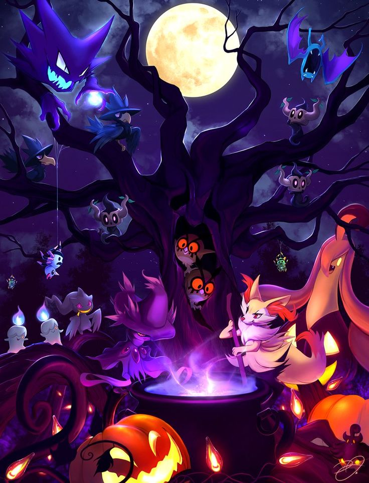 Pokemon Halloween 2016 by DenaJarawr.deviantart.com on @DeviantArt