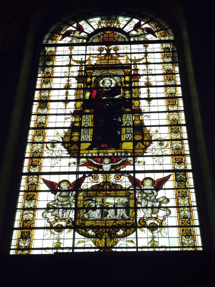 Window in Trinity College chapel