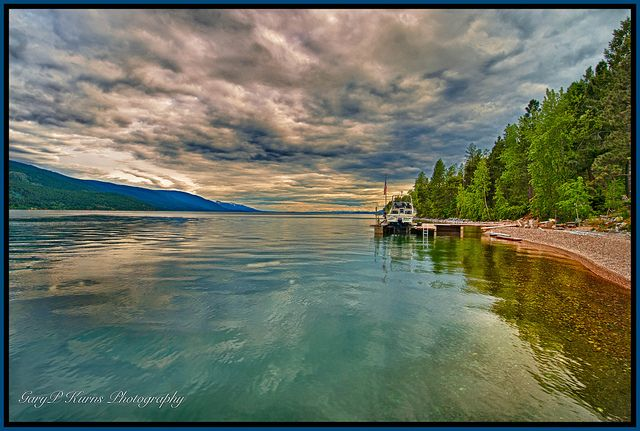 beautiful Flathead Lake , Montana