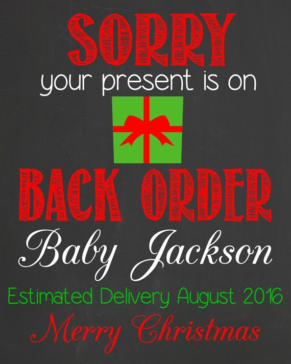 Unique Christmas Pregnancy Announcement by LaLaExpressions