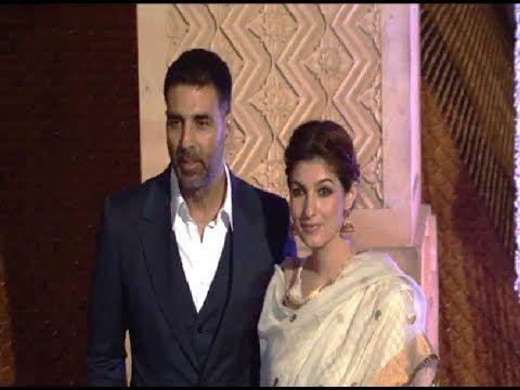 Akshay Kumar and Twinkle Khanna at Manish Malhotra's niece Riddhi Malhotra's wedding reception.